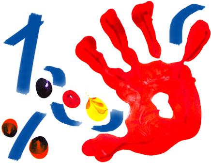 Illustrazione con mano variopinta