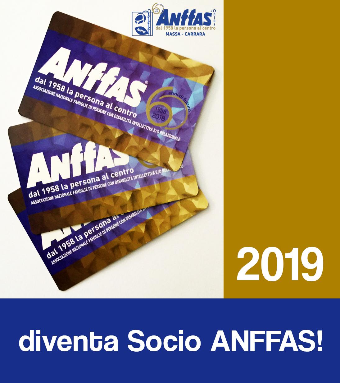 Tesseramento Anffas Onlus Massa Carrara 2019