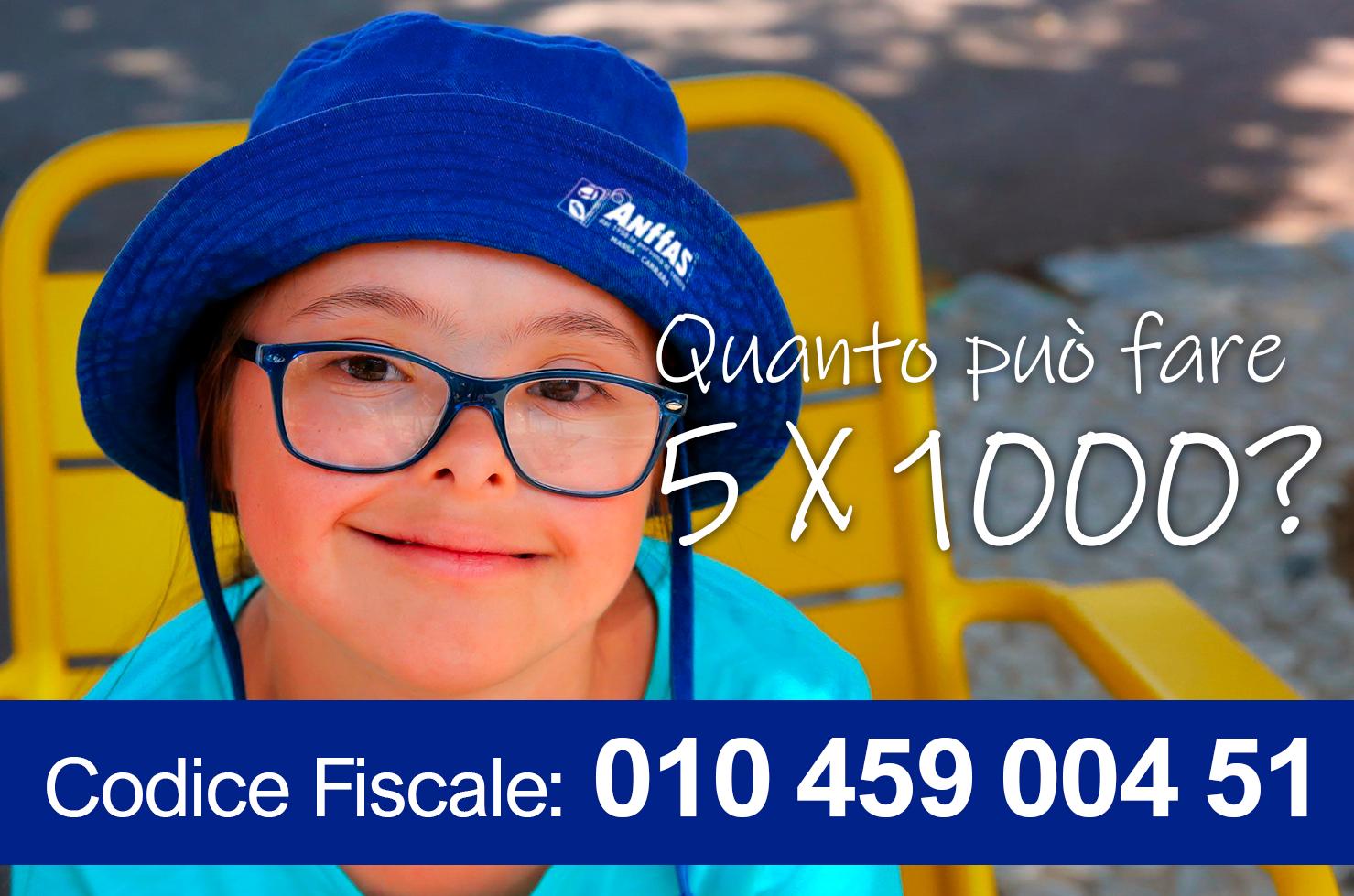 Destina il tuo 5 x 1000 a Anffas Massa Carrara